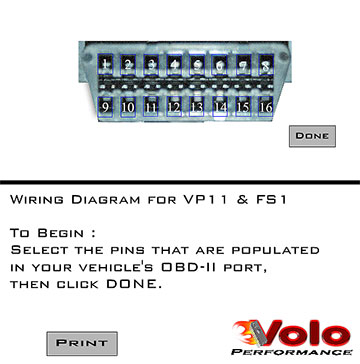download this obdii port diagram  click on the text or photo above to  download the plugin  next click on the port numbers that your pins are  populated to