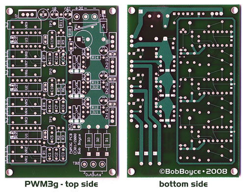 bob boyce and the pwm3g the pwm3g pcb circuit board